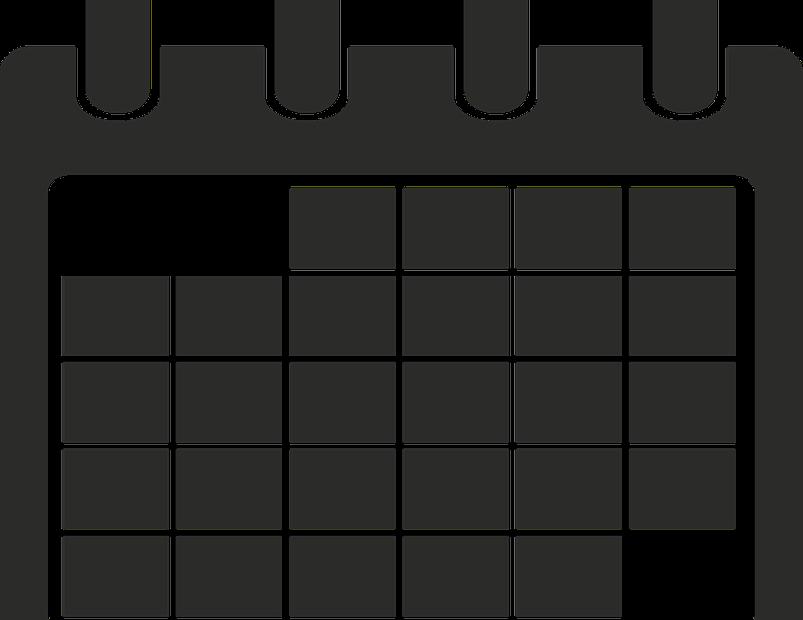 grafika ilustrująca kalendarz