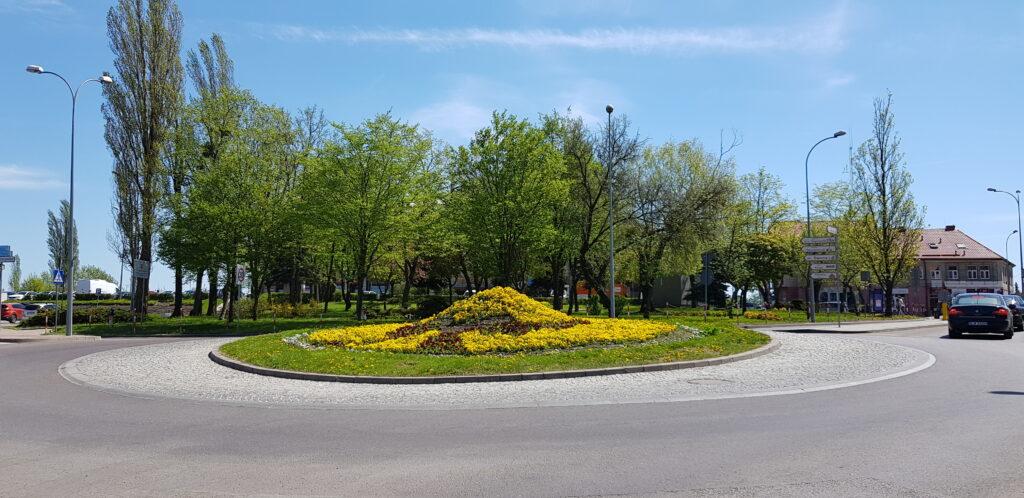 rondo im. Hanki Bielickiej od ul. Giełczyńskiej